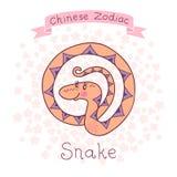 Китайский зодиак - змейка Стоковое фото RF