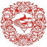 китайский зодиак змейки Стоковые Изображения RF