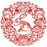 Китайский зодиак - кролик Стоковая Фотография