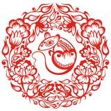 китайский зодиак крысы Стоковые Изображения RF