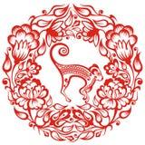 Китайский зодиак - обезьяна Стоковое фото RF