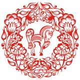 Китайский зодиак - лошадь Стоковые Изображения