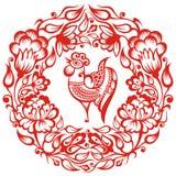 Китайский зодиак - петух Стоковое Фото