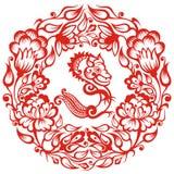 китайский зодиак дракона Стоковое Изображение
