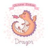 Китайский зодиак - дракон Стоковое Изображение