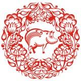 Китайский зодиак - свинья Стоковое Изображение