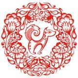 Китайский зодиак - собака Стоковая Фотография RF