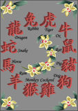 китайский зодиак Стоковая Фотография RF