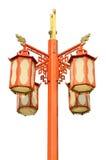 Китайский изолированный уличный фонарь Стоковое Изображение RF