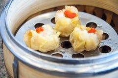 Китайский испаренный вареник Стоковое Фото