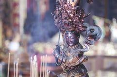 Китайский идол бога в виске Даосизма Стоковая Фотография