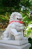 Китайский каменный скульптор льва Стоковое фото RF