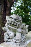 китайский камень льва традиционный Стоковая Фотография