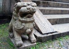 китайский камень льва традиционный Стоковое Изображение RF