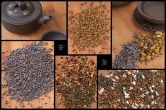 Китайский коллаж чая Стоковые Фотографии RF