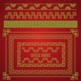 Китайский комплект границы, вектор Стоковая Фотография RF