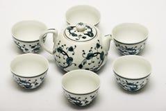 Китайский комплект чая фарфора Стоковое Изображение RF