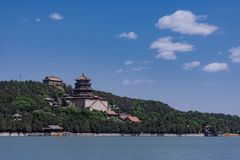 Китайский королевский взгляд летнего дворца сада стоковое фото rf