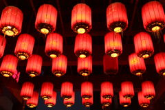 Китайский красный фонарик Китай Стоковое Изображение RF