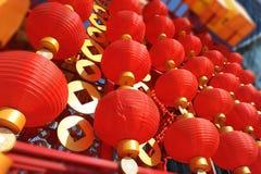 Китайский красный фонарик Стоковое фото RF