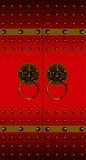 китайский красный цвет двери Стоковые Фотографии RF