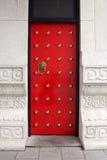 китайский красный цвет двери Стоковое Изображение