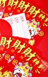 китайский красный цвет пакета Стоковая Фотография