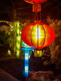 китайский красный цвет светильника Стоковые Фотографии RF