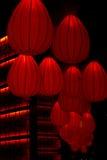 китайский красный цвет фонарика украшения Стоковое фото RF