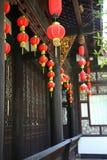 китайский красный цвет фонарика Стоковое Фото