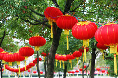 китайский красный цвет фонарика Стоковые Фото