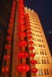 китайский красный цвет фонарика Стоковая Фотография