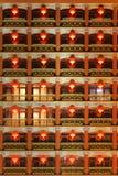 китайский красный цвет фонарика Стоковая Фотография RF