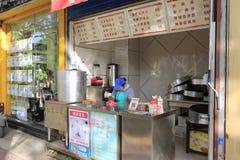 Китайский магазин завтрака в городе xian Стоковое Изображение