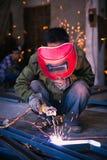 Китайский металл заварки работника Стоковое Изображение RF