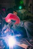 Китайский металл заварки работника Стоковая Фотография RF