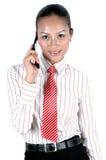 китайский мобильный телефон девушки Стоковая Фотография
