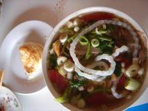 китайский монгольский суп лапши Стоковое Изображение