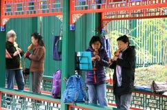 Китайский народ в парке стоковое изображение rf