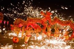 Китайский народ празднует Новый Год Стоковое Изображение