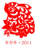 китайский новый год кролика Стоковое фото RF
