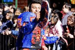 китайский новый год парада Стоковые Изображения RF