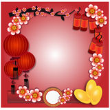 Китайский Новый Год - иллюстрация Стоковое Фото