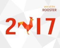 Китайский Новый Год петуха 2017 Стоковые Изображения