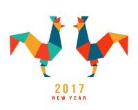Китайский Новый Год петуха 2017 Стоковые Фотографии RF