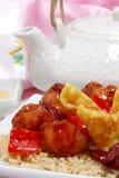 китайский обед стоковая фотография