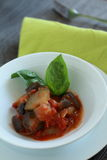 китайский овощ ресторана еды тарелки Стоковое Изображение RF