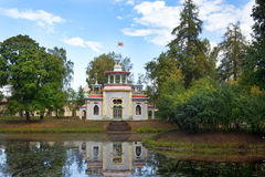 Китайский павильон в Tsarskoye Selo (Pushkin), Санкт-Петербурге Стоковое Изображение
