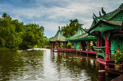 Китайский павильон на древнем городе Стоковая Фотография
