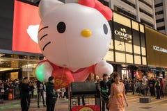 Китайский парад ночи Нового Года Стоковое Изображение RF